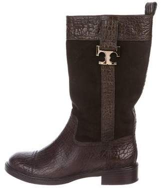 Tory Burch Leather Mid-Calf Boots