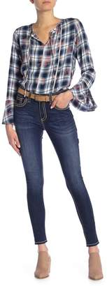 Seven7 Mid Rise Thick Stitch Skinny Jeans