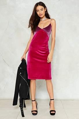 Nasty Gal I Feel Better All Over Velvet Dress