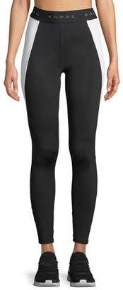 Koral Activewear Blunt Side-Panel Full-Length Leggings