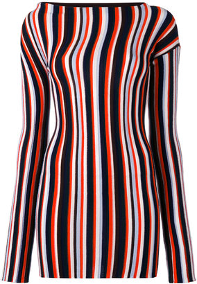 Jacquemus striped knitted mini dress $536 thestylecure.com