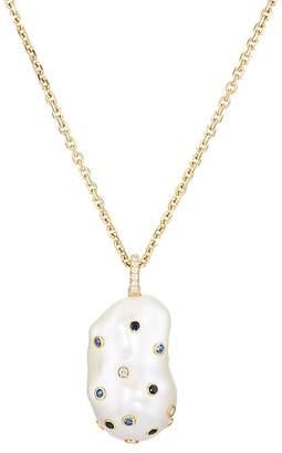 Samira 13 Women's Baroque Pearl & Mixed-Gemstone Pendant Necklace