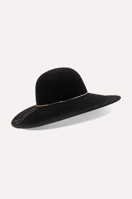 Eugenia Kim Honey Chain-trimmed Wool-felt Hat - Black