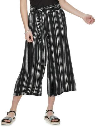 Candies NEW! Juniors' Candie's Belted Cropped Wide Leg Pants