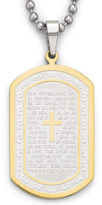 JCPenney FINE JEWELRY Mens Lord's Prayer Dog Tag Stainless Steel