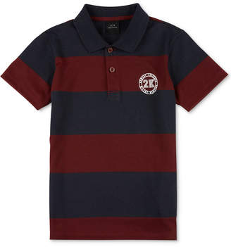 Armani Exchange Men's Rugby Striped Polo