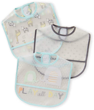 Baby Essentials Chick Pea (Newborn Boys) 3-Pack Play All Day Baby Bibs