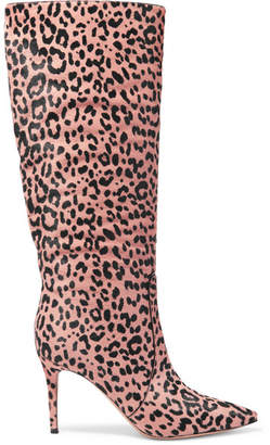 Gianvito Rossi Levy 85 Leopard-print Calf Hair Knee Boots - Leopard print