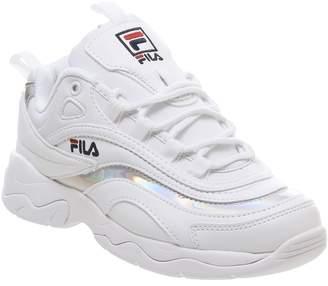 Fila Ray Trainers White Irridescent Silver F