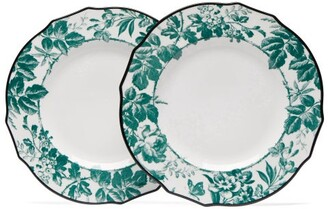 Herbarium Porcelain Dinner Plate Set - Womens - Green Multi