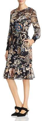 Tory Burch Gwyneth Long-Sleeve Printed Dress