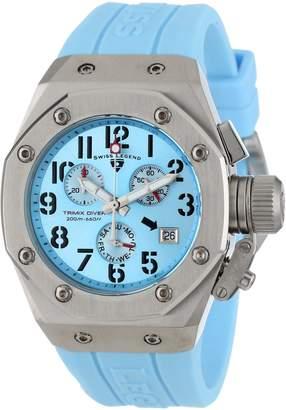 Swiss Legend Women's 10535-012 Trimix Diver Chronograph Light Dial Light Silicone Watch