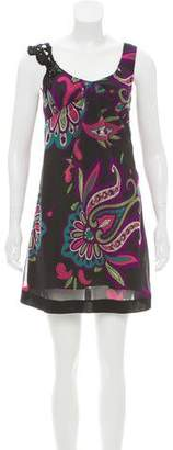 Etro Printed Embellished Dress
