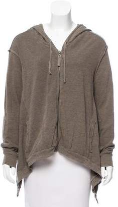 Splendid Distressed Zip-Up Sweater