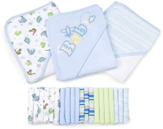 SpaSilk GIFT GBA23 02 23-Piece Essential Baby Bath Gift-Set