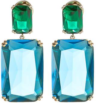 Amber Sceats Rectangle Color Crystal Earrings