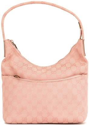 a93e0d71630 Gucci Pink Leather GG Monogram Canvas Shoulder Bag (4050014)
