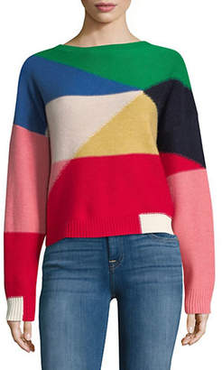 Joie Megu Colourblock Wool Cashmere Sweater