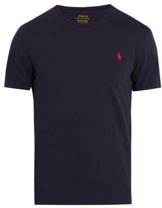 Polo Ralph Lauren - Logo Embroidered Cotton Jersey T Shirt - Mens - Navy