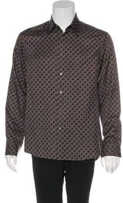Michael Kors Silk Pattern Dress Shirt