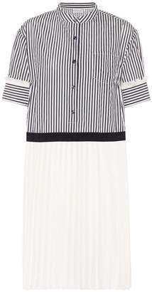Moncler Striped jacquard dress