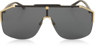 Gucci GG0291S Rectangular-frame Gold Metal Sunglasses