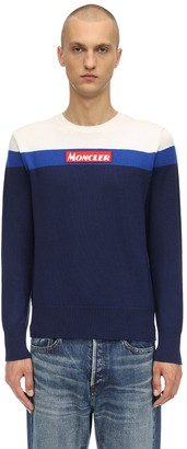 Moncler Crewneck Color Block Virgin Wool Sweater
