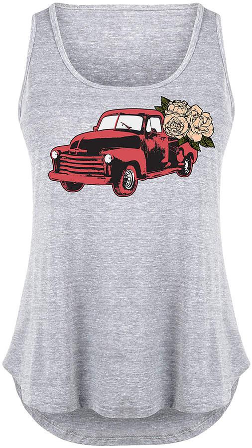 Athletic Heather Vintage Floral Truck Tank - Plus