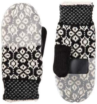 Isotoner Women's SmartDRI Knit Colorblock Snowflake Mittens