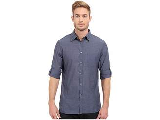 John Varvatos Roll Up Sleeve Shirt w/ Button Down Collar Single Pocket