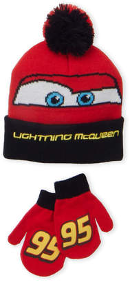 Cars Toddler Boys) Two-Piece Character Beanie & Mittens Set