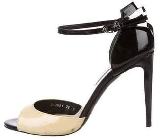 Ralph Lauren Patent Leather Ankle-Strap Pumps