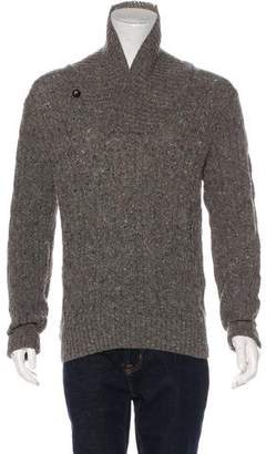 Vince Cable Knit Shawl Wool Sweater