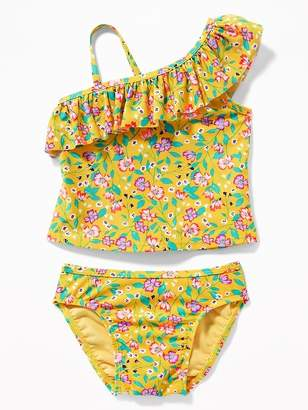 Old Navy One-Shoulder Printed Tankini for Toddler Girls