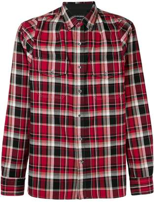 Alexander McQueen plaid button down shirt