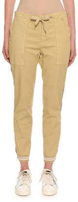 Ermanno Scervino Pull-On Twill Jogger Pants