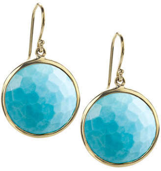 Ippolita 18k Gold Rock Candy Lollipop Earrings, Turquoise with Diamonds
