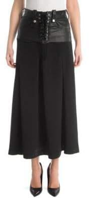 Taverniti So Ben Unravel Project Lace-Up Corset Skirt