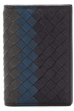 Bottega Veneta - Tri Colour Folded Cardholder - Mens - Navy Multi