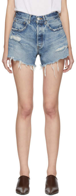 Blue Chester Denim Shorts