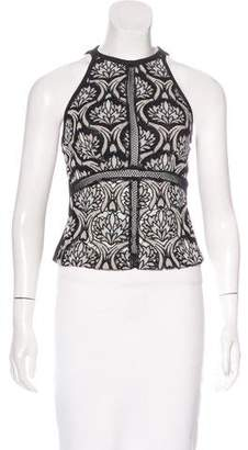 Yigal Azrouel Embroidered Sleeveless Top