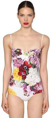 Dolce & Gabbana Floral Print Lycra Bathing Suit