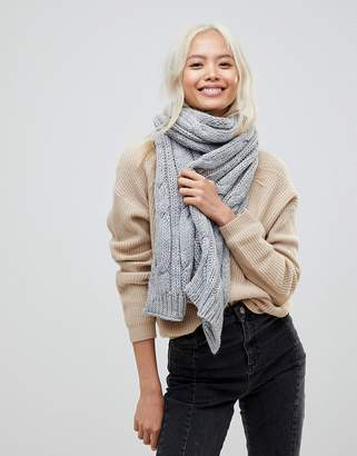 French Connection Chunky Knitted Scarf