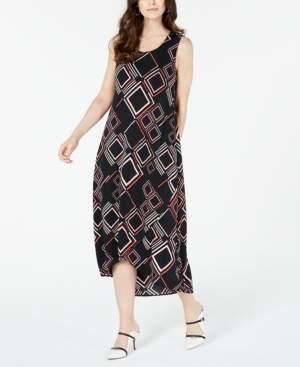 Alfani Petite Geo-Print Tulip-Hem Dress, Created for Macy's