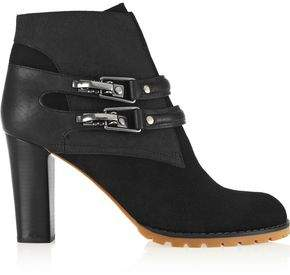 See by Chloe Buckled Leather-paneled Suede Ankle Boots