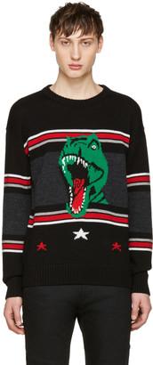 Saint Laurent Black T-Rex Sweater $990 thestylecure.com