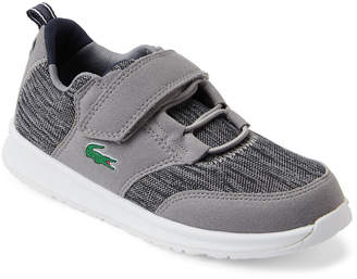Lacoste Kids Boys) Black & Grey Light Low-Top Sneakers