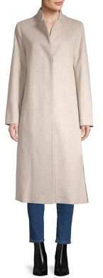 Fleurette Long-Sleeve Wool Coat