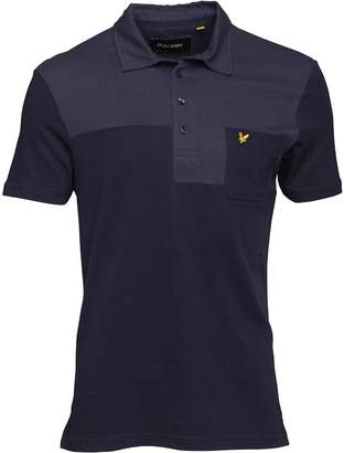 Lyle & Scott Vintage Mens Patchwork Polo Navy