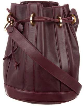 Salvatore Ferragamo Leather Drawstring Bag